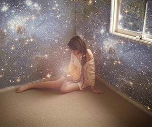 alone, galaxy, and lonely image