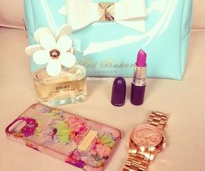 watch, daisy, and perfume image