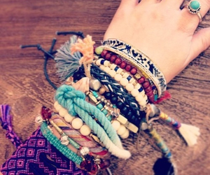 bracelets and hippie image