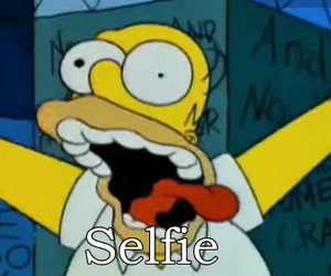 selfie, funny, and simpsons image