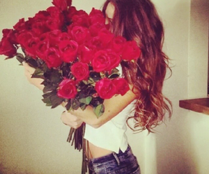 fashion, girls, and roses image