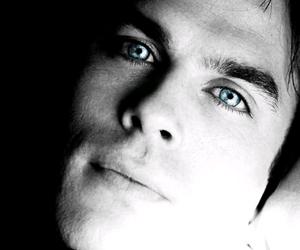 blue, damon, and eyes image