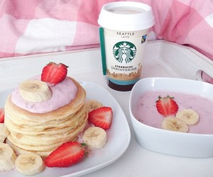 starbucks, food, and strawberry image