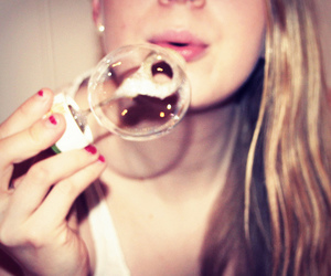 bubbles, girl, and beautiful image