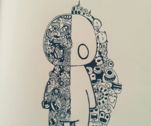 black and white, fun, and doodle image