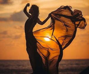 beauty, sun, and woman image