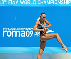 russia, solo, and synchronized swimming image