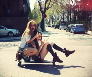 friends and girl image