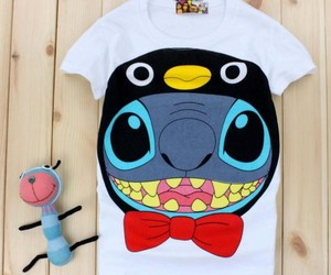 tshirt, cute, and little stitch image