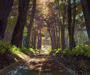 art, nature, and anime image