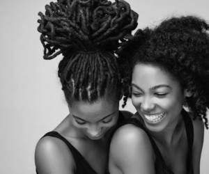 natural hair, Afro, and smile image