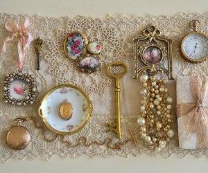 clock, vintage, and key image