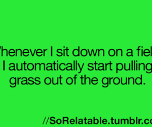 true, grass, and lol image