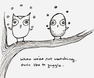 owl, juggle, and drawing image