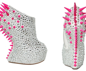 glitter, heels, and spikes image