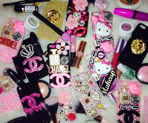 case, pink, and Versace image