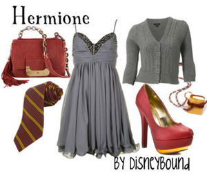 hermione granger, dress, and harry potter image