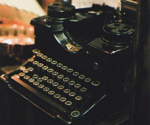 vintage, typewriter, and hipster image