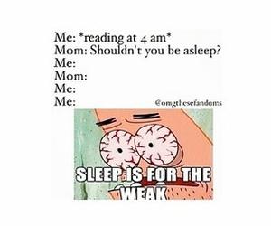 asleep, book, and funny image