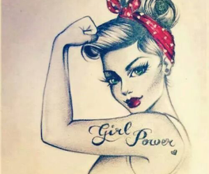 drawing and girl power image