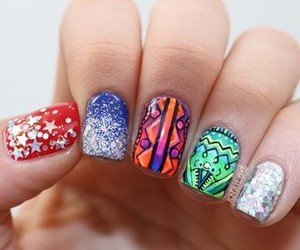 girly, glitter, and nails image