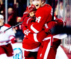 detroit, happy, and hockey image