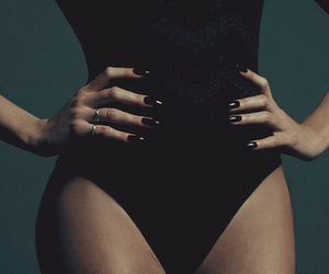 black, nails, and body image