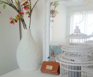 cage, flowers, and room image