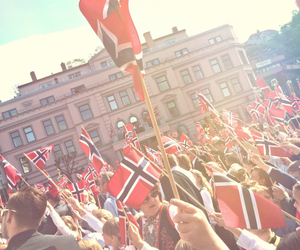 celebrate, flag, and norway image