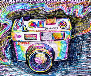 camera, colors, and drawing image