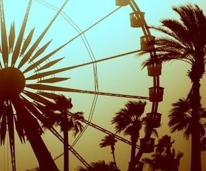summer, ferris wheel, and sun image