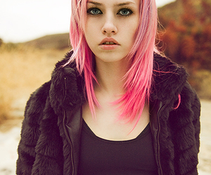 model, charlotte free, and pink hair image