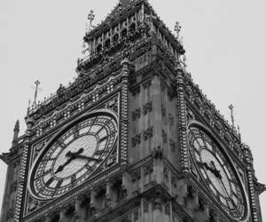 Big Ben, black and white, and Londres image
