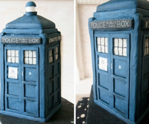 cake, doctor who, and geek image