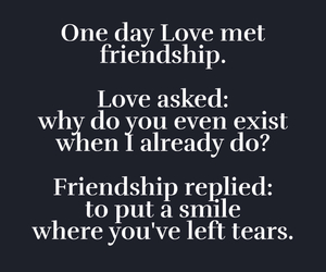 friendship, smile, and tears image