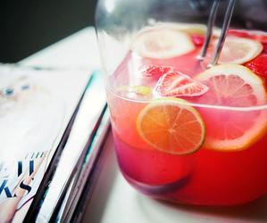 drink, juice, and lemon image