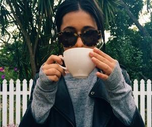 girl, coffee, and grunge image