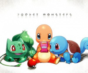 pokemon, charmander, and squirtle image
