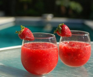 strawberry, drink, and summer image