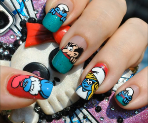 nails and smurfs image