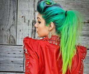 hair, green, and marimoon image