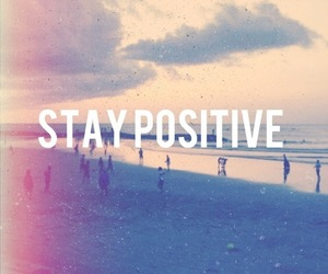 beach, positive, and quote image