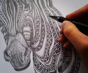 aztec, drawing, and illustration image