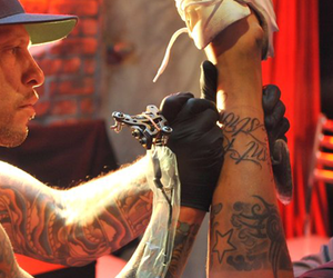 boy, miami ink, and tattoo image