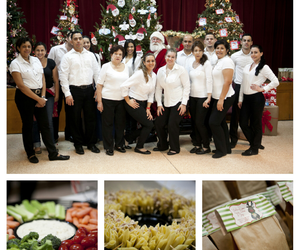 catering, mia anzola manrique, and Christmas party image