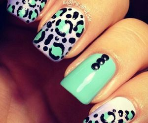animal print, colors, and nails image