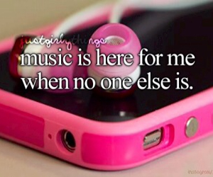 music, pink, and quote image