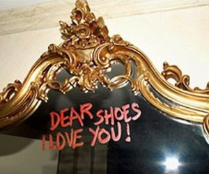shoes, mirror, and I Love You image