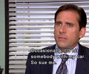 the office, funny, and michael scott image