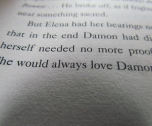 book, damon, and elena image